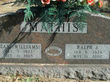 WILLIAMS MATHIS, JEAN - Boone County, Arkansas | JEAN WILLIAMS MATHIS - Arkansas Gravestone Photos