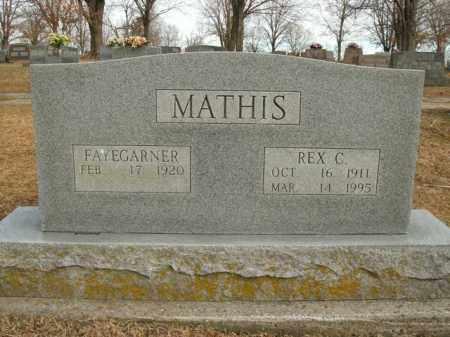 MATHIS, REX C. - Boone County, Arkansas   REX C. MATHIS - Arkansas Gravestone Photos