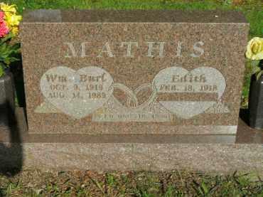 MATHIS, WILLIAM BURL - Boone County, Arkansas | WILLIAM BURL MATHIS - Arkansas Gravestone Photos