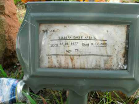 MATHIS, WILLIAM EARLE - Boone County, Arkansas   WILLIAM EARLE MATHIS - Arkansas Gravestone Photos