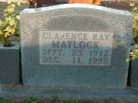 MATLOCK, CLARENCE RAY - Boone County, Arkansas | CLARENCE RAY MATLOCK - Arkansas Gravestone Photos