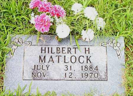 MATLOCK, HILBERT  H. - Boone County, Arkansas   HILBERT  H. MATLOCK - Arkansas Gravestone Photos