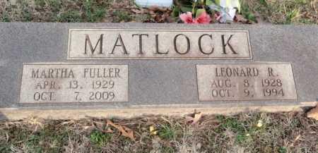 MATLOCK, LEONARD R. - Boone County, Arkansas   LEONARD R. MATLOCK - Arkansas Gravestone Photos