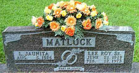 MATLOCK, SR, LEE ROY - Boone County, Arkansas | LEE ROY MATLOCK, SR - Arkansas Gravestone Photos