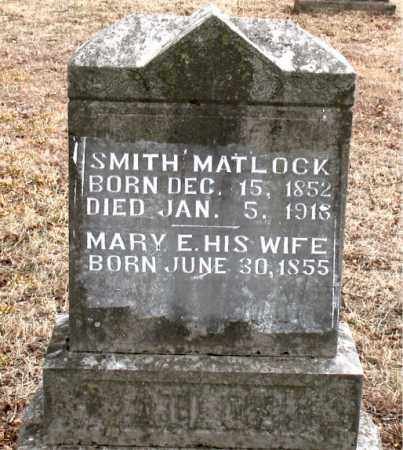 MATLOCK, MARY E. - Boone County, Arkansas | MARY E. MATLOCK - Arkansas Gravestone Photos