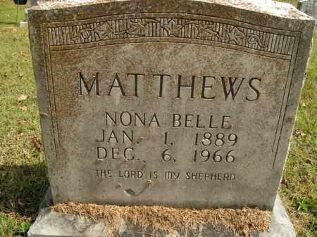 MATTHEWS, NONA BELLE - Boone County, Arkansas | NONA BELLE MATTHEWS - Arkansas Gravestone Photos