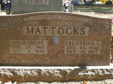 MATTOCKS, FREDERICK L. - Boone County, Arkansas | FREDERICK L. MATTOCKS - Arkansas Gravestone Photos