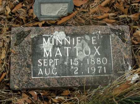 MATTOX, MINNIE E. - Boone County, Arkansas | MINNIE E. MATTOX - Arkansas Gravestone Photos