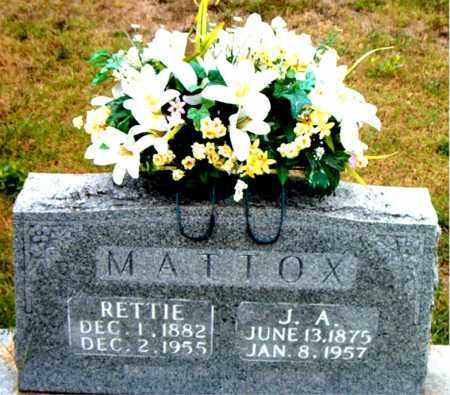 MATTOX, RETTIE - Boone County, Arkansas | RETTIE MATTOX - Arkansas Gravestone Photos