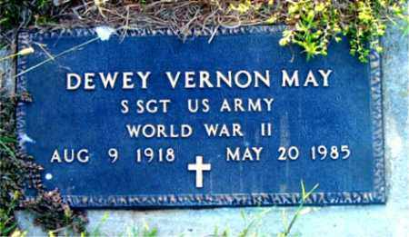 MAY  (VETERAN WWII), DEWEY VERNON - Boone County, Arkansas | DEWEY VERNON MAY  (VETERAN WWII) - Arkansas Gravestone Photos