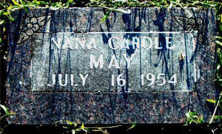 MAY, NANA CAROLE - Boone County, Arkansas   NANA CAROLE MAY - Arkansas Gravestone Photos