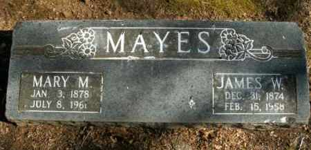 MAYES, JAMES WILLIAM - Boone County, Arkansas | JAMES WILLIAM MAYES - Arkansas Gravestone Photos