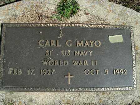 MAYO  (VETERAN WWII), CARL G - Boone County, Arkansas   CARL G MAYO  (VETERAN WWII) - Arkansas Gravestone Photos