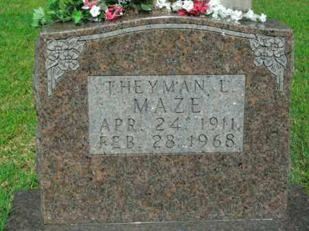 MAZE, THEYMAN L. - Boone County, Arkansas | THEYMAN L. MAZE - Arkansas Gravestone Photos