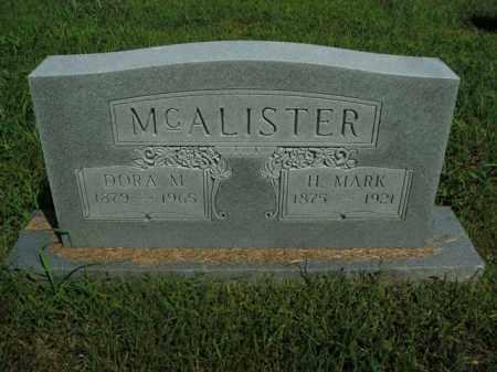MCALISTER, DORA M. - Boone County, Arkansas   DORA M. MCALISTER - Arkansas Gravestone Photos