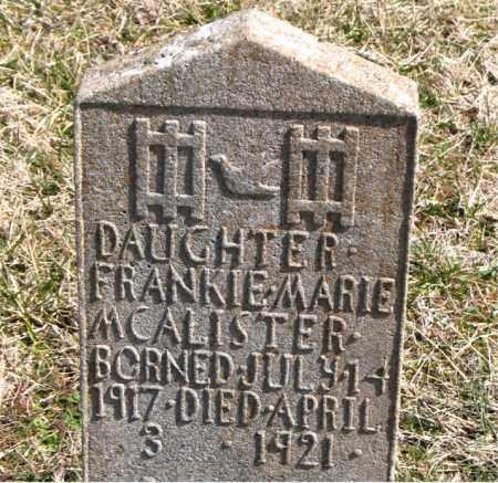 MCALISTER, FRANKIE MARIE - Boone County, Arkansas   FRANKIE MARIE MCALISTER - Arkansas Gravestone Photos