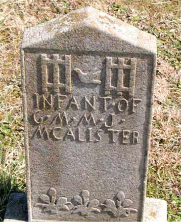 MCALISTER, INFANT - Boone County, Arkansas | INFANT MCALISTER - Arkansas Gravestone Photos