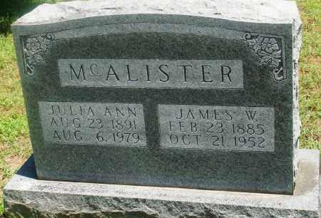 MCALISTER, JAMES W - Boone County, Arkansas | JAMES W MCALISTER - Arkansas Gravestone Photos