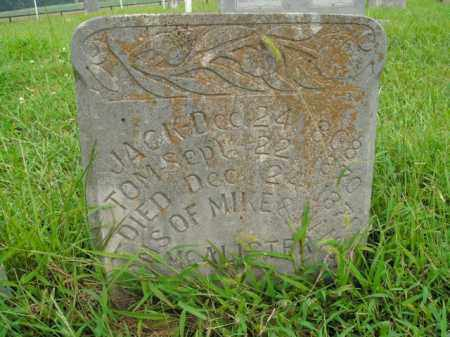 MCALISTER, JACK - Boone County, Arkansas | JACK MCALISTER - Arkansas Gravestone Photos