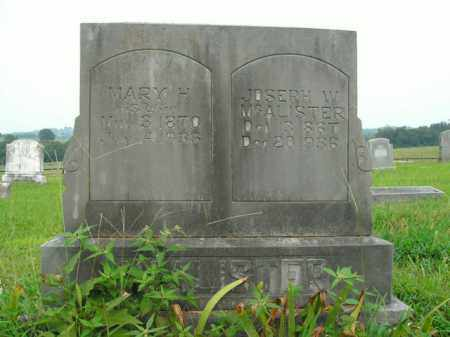 MCALISTER, JOSEPH W. - Boone County, Arkansas   JOSEPH W. MCALISTER - Arkansas Gravestone Photos