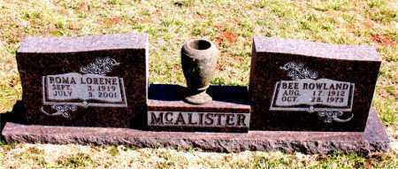 MCALISTER, BEE - Boone County, Arkansas | BEE MCALISTER - Arkansas Gravestone Photos