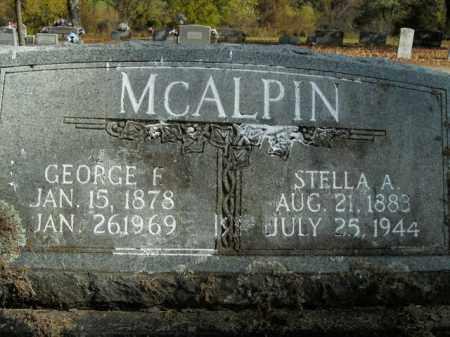 MCALPIN, STELLA A. - Boone County, Arkansas | STELLA A. MCALPIN - Arkansas Gravestone Photos