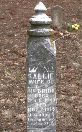 MCBRIDE, SALLIE - Boone County, Arkansas   SALLIE MCBRIDE - Arkansas Gravestone Photos
