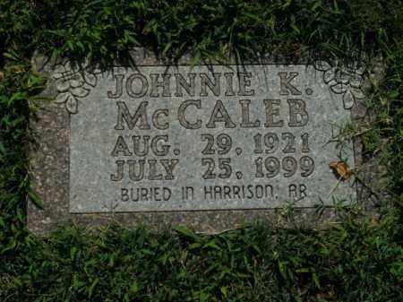 MCCALEB, JOHNNIE K. (SECOND STONE) - Boone County, Arkansas | JOHNNIE K. (SECOND STONE) MCCALEB - Arkansas Gravestone Photos