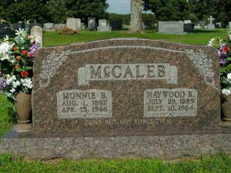 MCCALEB, MONNIE B. - Boone County, Arkansas | MONNIE B. MCCALEB - Arkansas Gravestone Photos