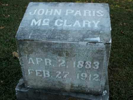 MCCLARY, JOHN PARIS - Boone County, Arkansas | JOHN PARIS MCCLARY - Arkansas Gravestone Photos