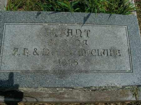 MCCLURE, INFANT SON - Boone County, Arkansas | INFANT SON MCCLURE - Arkansas Gravestone Photos