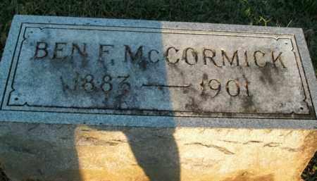 MCCORMICK, BEN F. - Boone County, Arkansas   BEN F. MCCORMICK - Arkansas Gravestone Photos