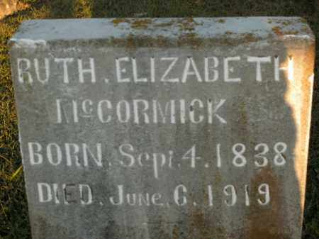 MCCORMICK, RUTH ELIZABETH - Boone County, Arkansas   RUTH ELIZABETH MCCORMICK - Arkansas Gravestone Photos