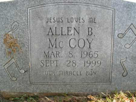MCCOY, ALLEN B. - Boone County, Arkansas | ALLEN B. MCCOY - Arkansas Gravestone Photos