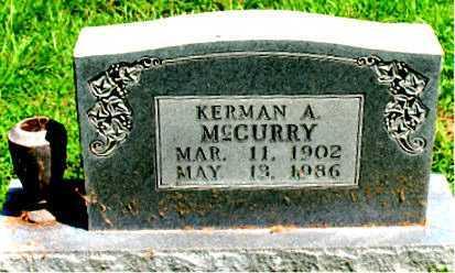 MCCURRY, KERMAN A. - Boone County, Arkansas | KERMAN A. MCCURRY - Arkansas Gravestone Photos