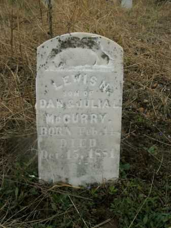 MCCURRY, LEWIS N. - Boone County, Arkansas | LEWIS N. MCCURRY - Arkansas Gravestone Photos