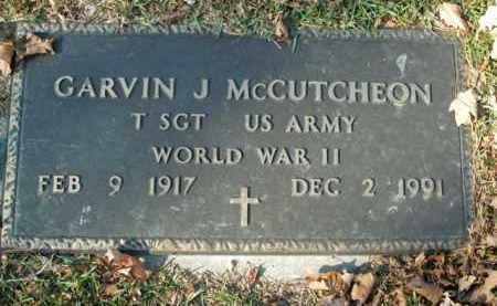 MCCUTCHEON  (VETERAN WWII), GARVIN J - Boone County, Arkansas | GARVIN J MCCUTCHEON  (VETERAN WWII) - Arkansas Gravestone Photos