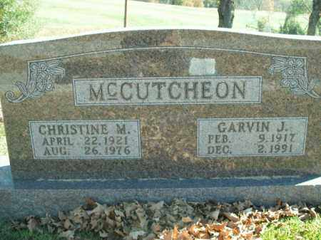 MCCUTCHEON, GARVIN JACKSON - Boone County, Arkansas | GARVIN JACKSON MCCUTCHEON - Arkansas Gravestone Photos