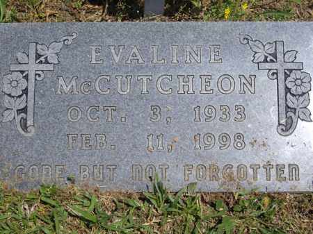 MCCUTCHEON, EVALINE - Boone County, Arkansas   EVALINE MCCUTCHEON - Arkansas Gravestone Photos