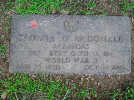 MCDONALD  (VETERAN WWII), GEORGE W. - Boone County, Arkansas   GEORGE W. MCDONALD  (VETERAN WWII) - Arkansas Gravestone Photos