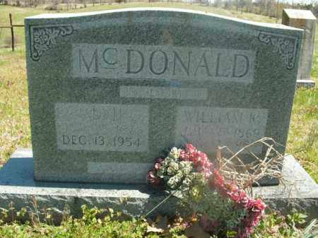 MCDONALD, WILLIAM K. - Boone County, Arkansas | WILLIAM K. MCDONALD - Arkansas Gravestone Photos