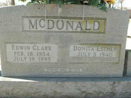 MCDONALD, EDWIN CLARK - Boone County, Arkansas | EDWIN CLARK MCDONALD - Arkansas Gravestone Photos