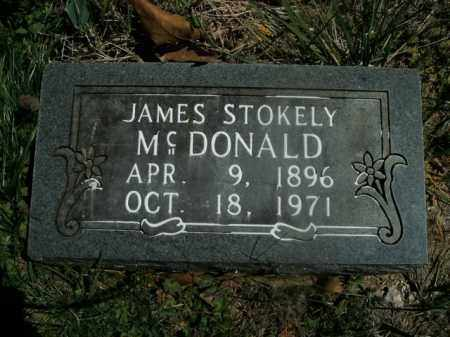 MCDONALD, JAMES STOKELY - Boone County, Arkansas | JAMES STOKELY MCDONALD - Arkansas Gravestone Photos