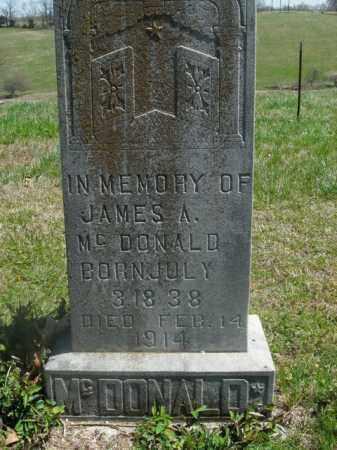 MCDONALD, JAMES A. - Boone County, Arkansas | JAMES A. MCDONALD - Arkansas Gravestone Photos