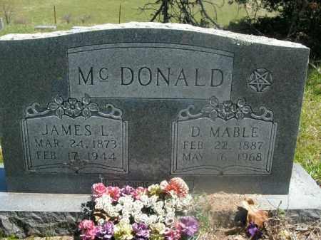 MCDONALD, JAMES L. - Boone County, Arkansas | JAMES L. MCDONALD - Arkansas Gravestone Photos