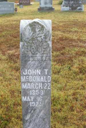 MCDONALD, JOHN T. - Boone County, Arkansas | JOHN T. MCDONALD - Arkansas Gravestone Photos
