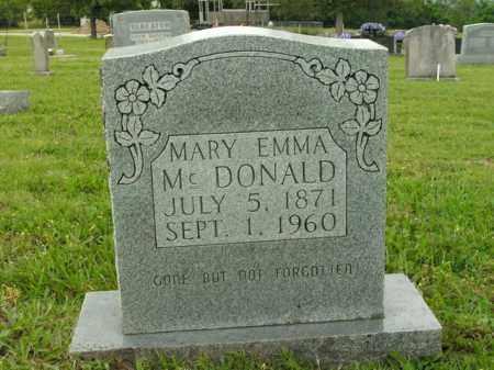MCDONALD, MARY EMMA - Boone County, Arkansas   MARY EMMA MCDONALD - Arkansas Gravestone Photos