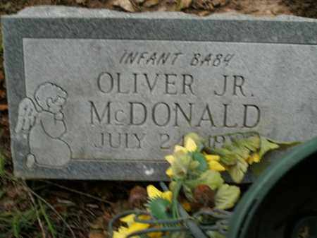 MCDONALD, JR, OLIVER - Boone County, Arkansas | OLIVER MCDONALD, JR - Arkansas Gravestone Photos