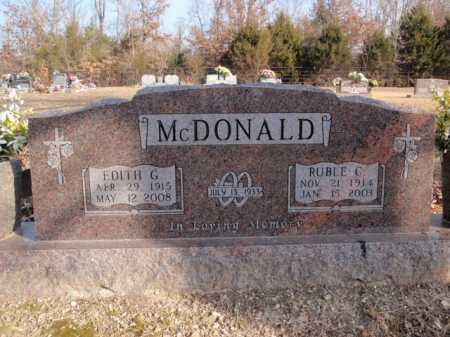 MCDONALD, RUBLE C. - Boone County, Arkansas | RUBLE C. MCDONALD - Arkansas Gravestone Photos