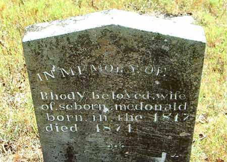 MCDONALD, RHODY - Boone County, Arkansas | RHODY MCDONALD - Arkansas Gravestone Photos